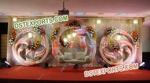 Designer Wedding Stage Backdrop