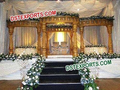 South Indian Wedding Gold Mandap Set