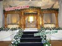 South Indian Wedding Gold Mandap Set