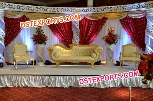 INDIAN WEDDING GOLD STAGE SET