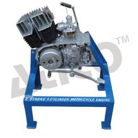 2 Stroke 1 Cylinder Motor Cycle Engine