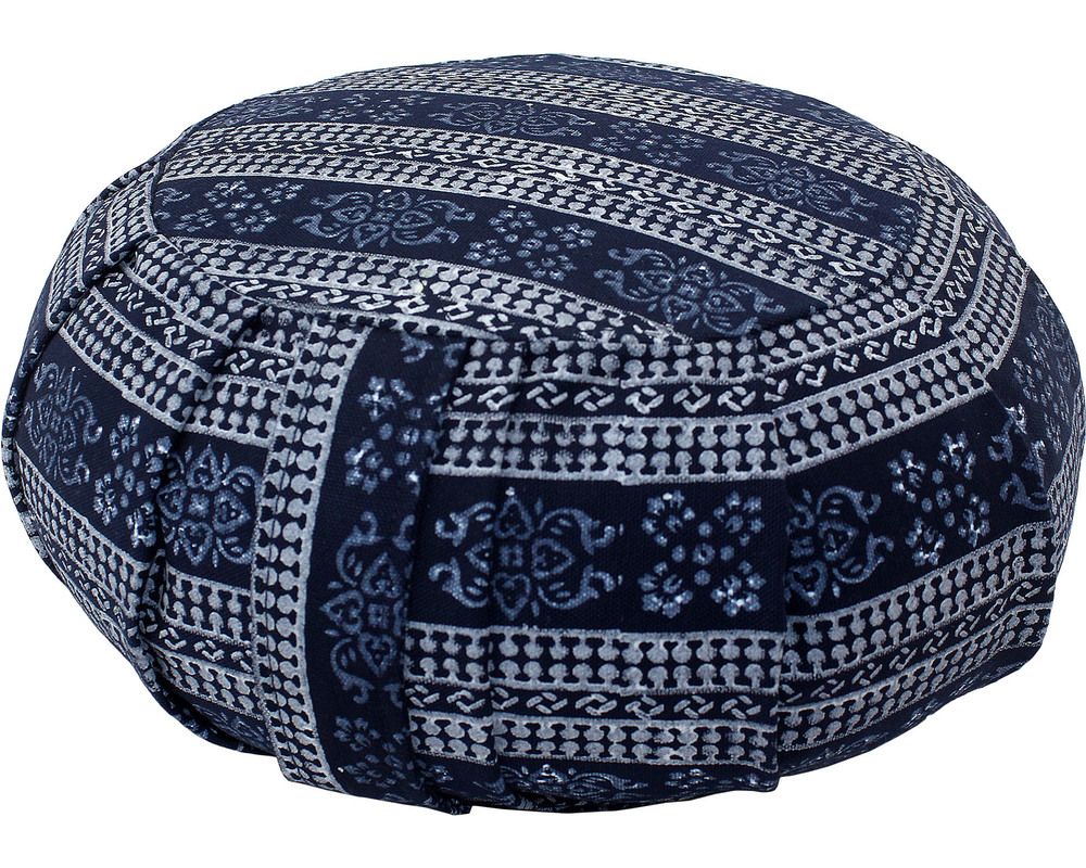 Block Printed Zafu Cushion