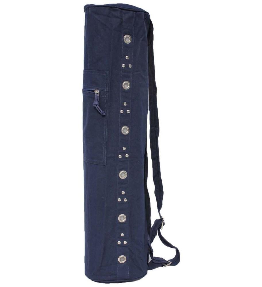 Eyelet Mat Bags- (Drawstring) Navy Blue