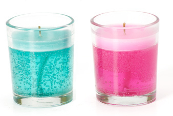 Gel Glass Candles