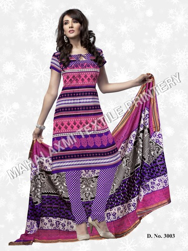 Cotton Salwar Suit Materials Neck Designs