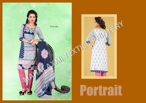 Trends Printed Cotton Dress Materials