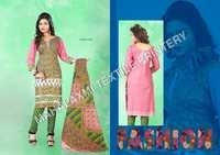 Pink & Green Cotton Salwar Kameez