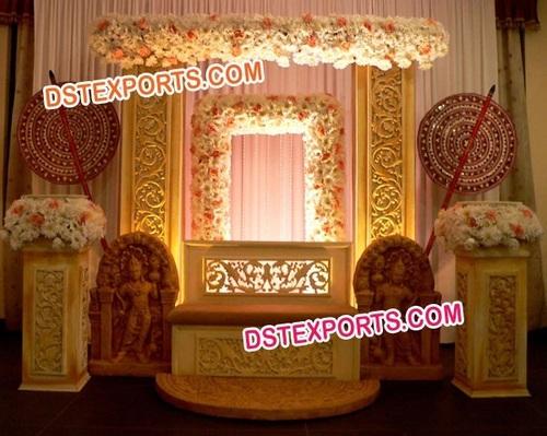 HINDU WEDDING CARVED STAGE