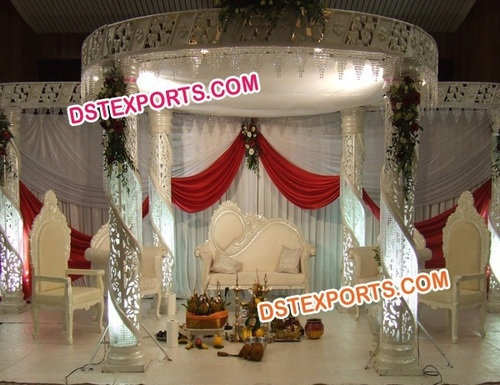 Hindu Wedding Crystal Mandap