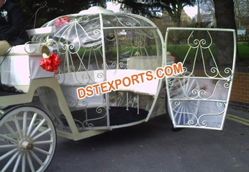 Wedding Cinderala Carriage With Door