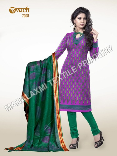 Purple Cotton Salwar Kameez
