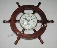 Nautical Decorative wooden ship wall clock