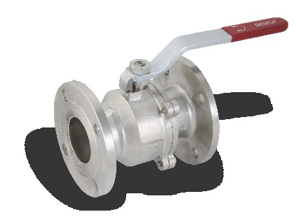 I.C 304/316 2 PCS BALL VALVE FLANGED ENDS