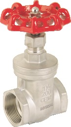 I.C 304/316 GATE VALVE SCREWED ENDS
