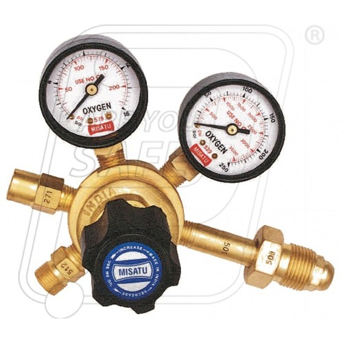 SINGLE STAGE DOUBLE GAUGE REGULATOR OXYGEN