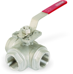 I.C 304/316 3 WAY BALL VALVE SCREWED ENDS