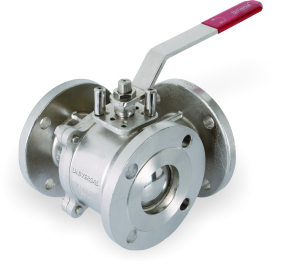I.C 304/316 3 WAY BALL VALVE FLANGED ENDS