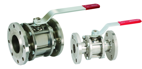S.S 3 PCS BALL VALVE FLANGED ENDS