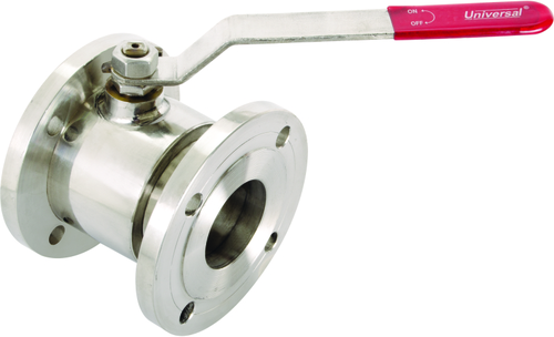 S.S BALL TYPE FLUSHBOTTOM VALVE FLANGED ENDS