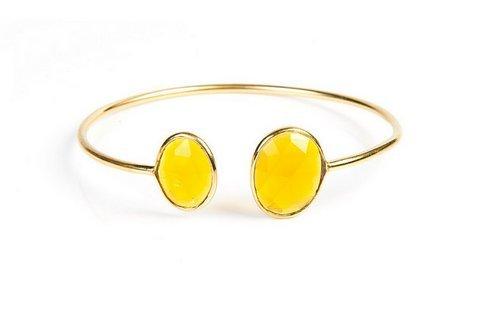 Yellow Chacedony Gemstone Bracelete