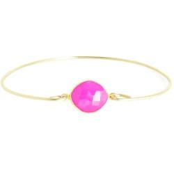 Fuchsia Chalcedony Gemstone Bracelete