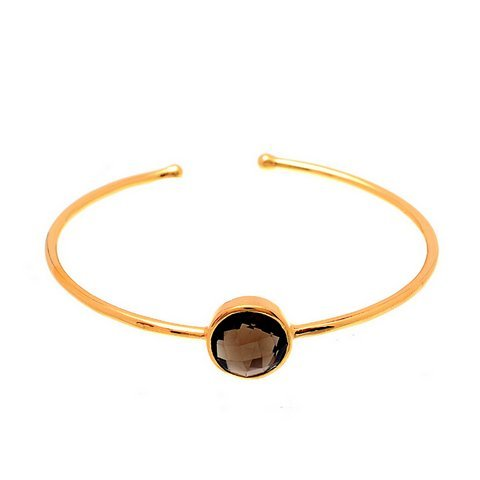Smoky Topaz Gemstone Bangle