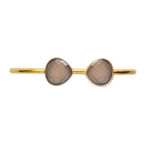 Gray Chalcedony Gemstone Bracelete
