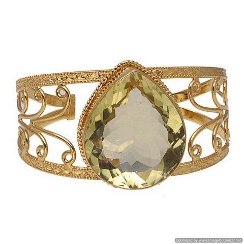 Lemon Topaz Gemstone Bracelete