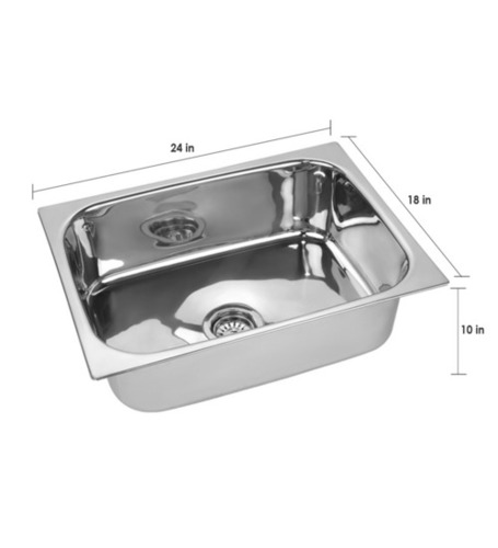 Single Bowl Straight Sink