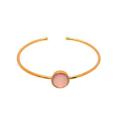 Pink Chalcedony Gemstone Bangles
