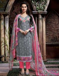 Grey Cotton Stylish Salwar Suit