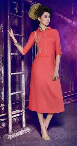 Peach Lovely Party Wear Kurti