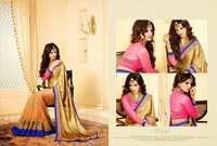 Fancy Golden Colour Wedding Collection Saree
