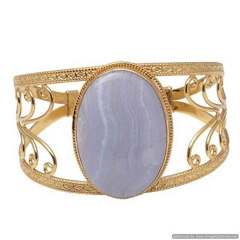 Blue Lace Gemstone Bracelete