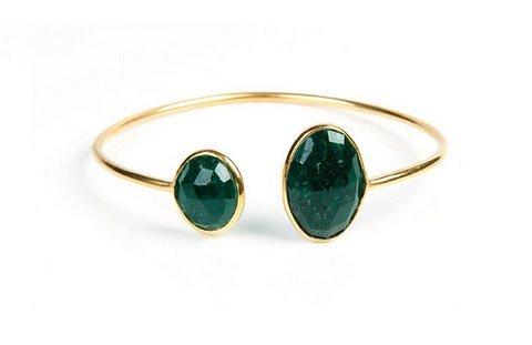 Dyed Emerald Gemstone Bracelete
