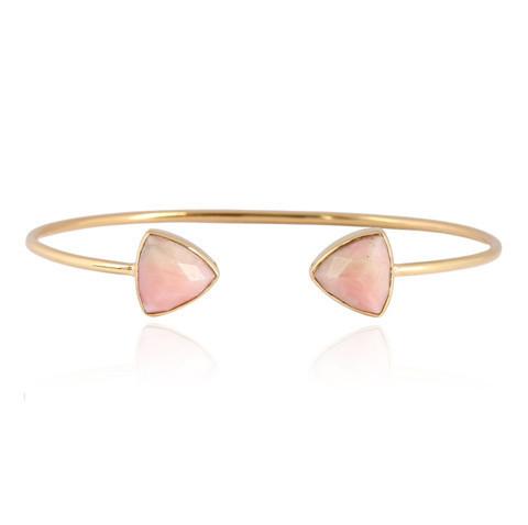 Pink Opal Gemstone Bracelete