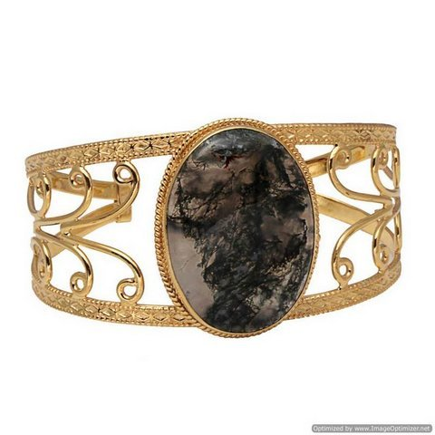 Moss Agate Gemsone Bracelete