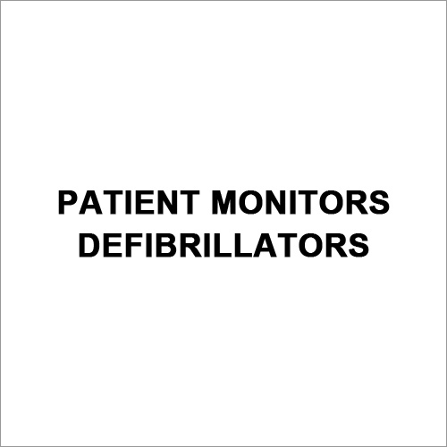 Patient Monitors Defibrillators