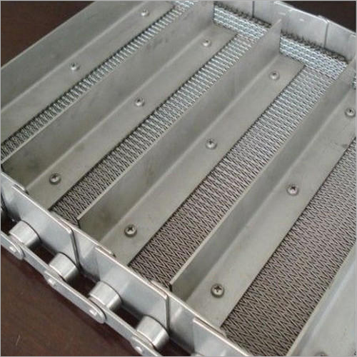 Stainless Steel Conveyor Belt with Baffle