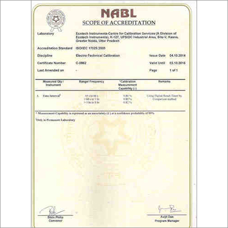 Calibration under NABL