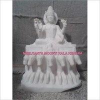 WHITE MARBLE SURYA BHAGWAN  STATUE IDOL