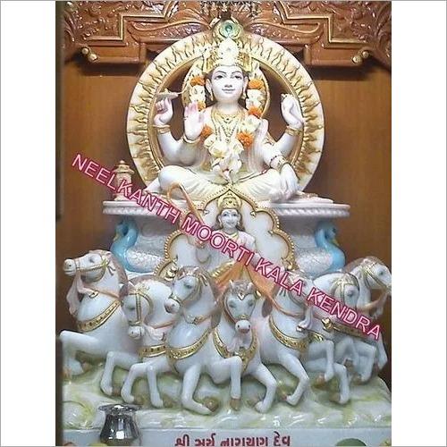 Surya Marble God Statue