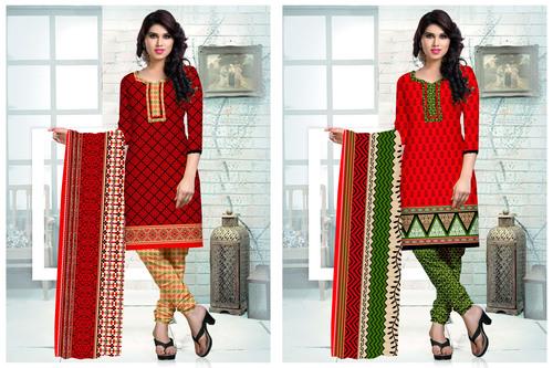 Printed Salwar Kameez Materials