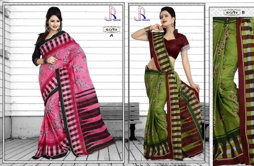 Designer Cotton Saree in Jetpur