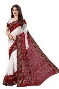 Bandhni Cotton Silk Stylish Saree