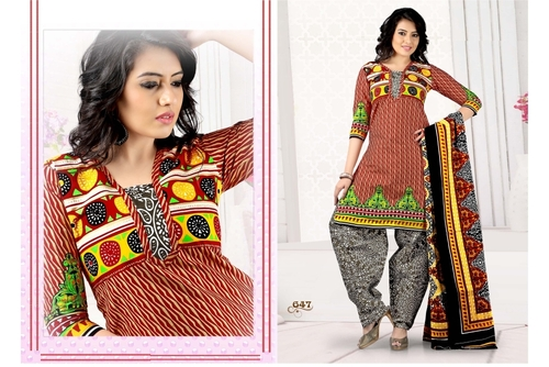 Unstitched Patiala Suits