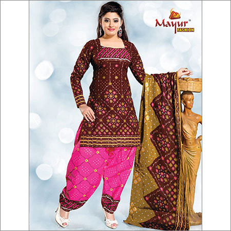 Cotton Patiala Dress Materials