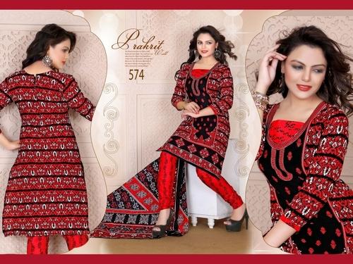 Red Queen Cotton Salwar Suit