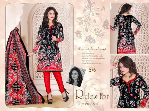 Red Queen Cotton Salwar Suit
