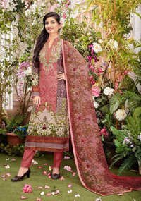 Brown Stylish Cotton Suit